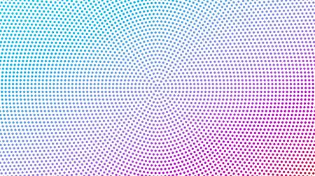 Vector l'illustrazione del modello punteggiato del semitono rotondo astratto come fondo. Sfondo geometrico. Struttura di vettore di punti colorati stile pop art fumetti per il vostro disegno