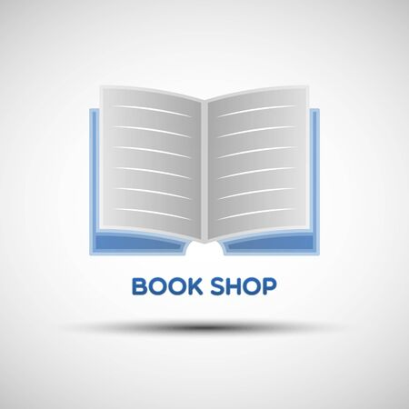 Abstract book template. Vector illustration of book icon for your design