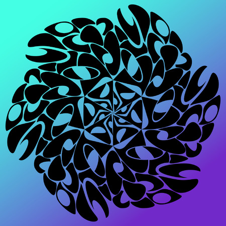 zenlike: Beautiful minimalistic vector flower pattern Illustration