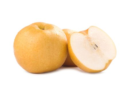 asian produce: Japanese pear, popular fruit in asia