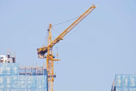 hijsen: hijsen en onder constructie Gebouwen