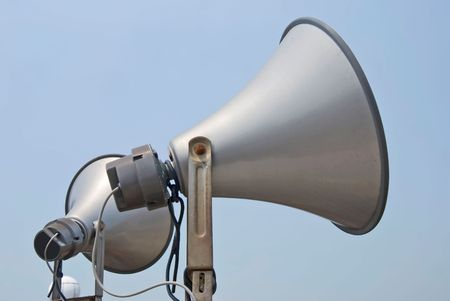 two megaphone speak to sky Stock Photo - 5589231