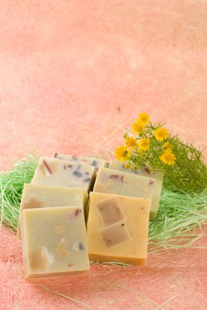 handmade Soap with little flower photo