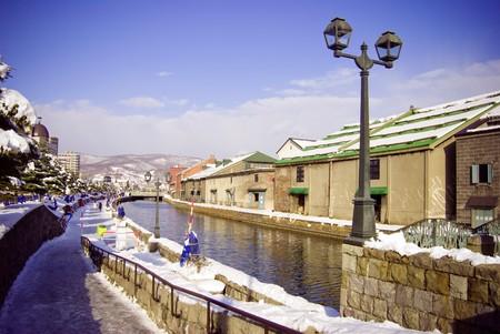 canal house: Canals in Otaru,  Hokkaido, north of Honshu, Japan,  northeast Asia