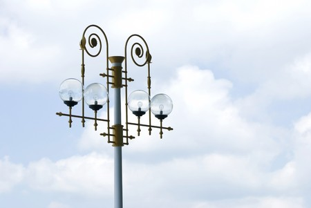 Art decoration streetlamps with cloudy background photo