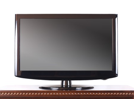 Modern television on wooden cabinet in the living room Stock Photo - 7723007