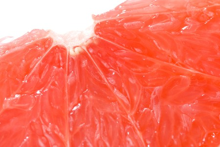 Slice of grapefruit, delicious ripe fruit full of juice. photo
