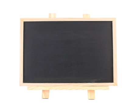 Isolated blank blackboard with frame on wooden framework Stock Photo - 8367373