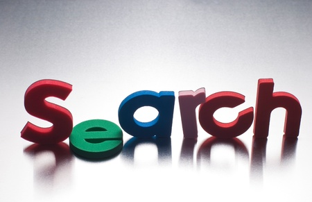 search word on metal background, part of a series of business words Stock Photo - 8367366