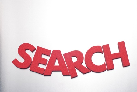 search word on metal background, part of a series of business words Stock Photo - 8428257