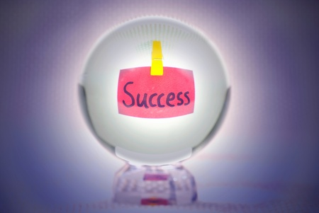 Success, words show in magic crystal ball Stock Photo - 9453762