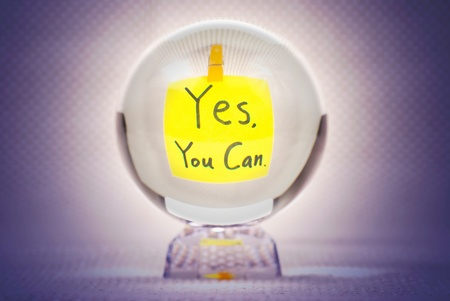 Yes you can, words show in magic crystal ball Stock Photo - 9453763