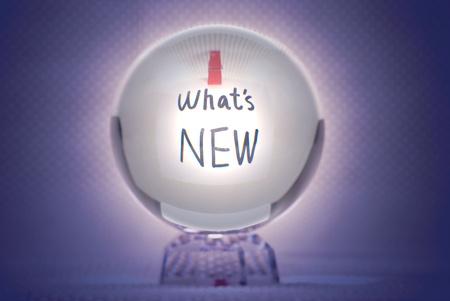 Whats new, words show in magic crystal ball photo
