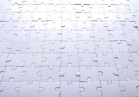 Puzzle background. Blank puzzle in pieces. photo