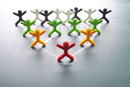 La organización corporativa, gráfico de jerarquía de un grupo de personas de símbolos. Foto de archivo - 10955637
