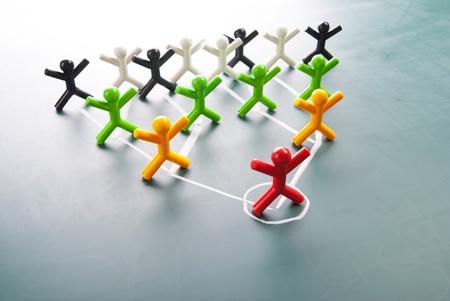 Organisatorische Unternehmens-, Hierarchie-Diagramm eines Unternehmens Symbol Menschen. Standard-Bild