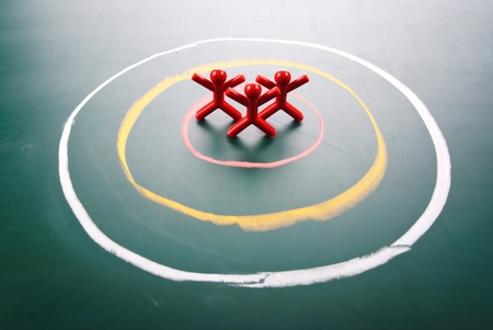 focus group: Target concept. People be selected in the center of circle. Stock Photo