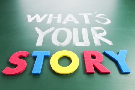 color image creativity: �Cu�l es tu historia? Palabras de colores en la pizarra.