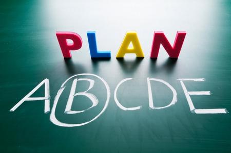 Choose a best choice, hand writing words on blackboard Stock Photo - 11977133