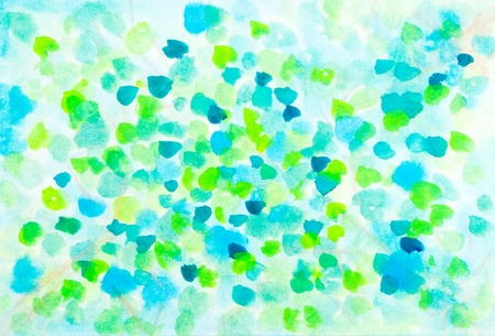 Abstract spring leaves watercolor design  Art is created and painted by photographer  photo