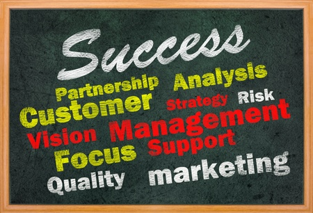 Success concept with other related words on retro blackboard Stock Photo - 12615435