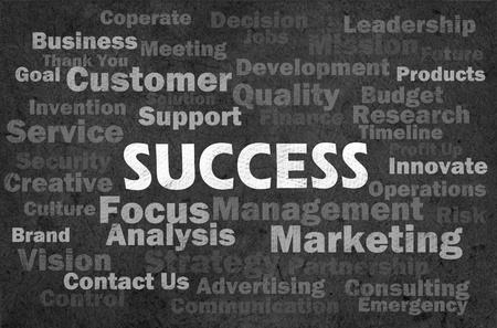 Success concept with other related words on retro blackboard Stock Photo - 12615441