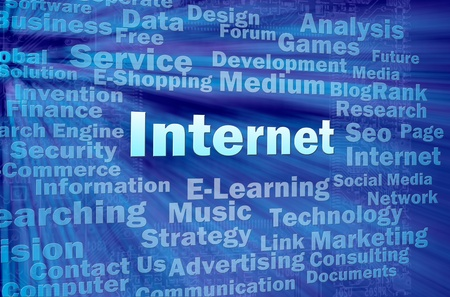Internet concept in virtual space with related words Stock Photo - 12615550
