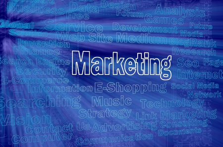 Marketing concept with internet related words photo