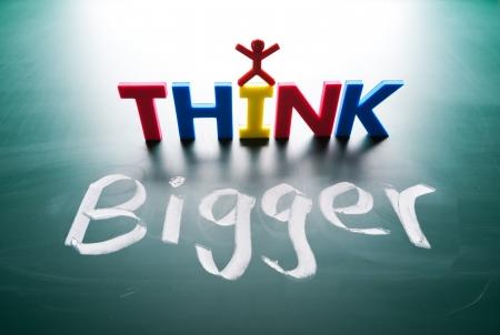 intent: I think bigger concept, words on blackboard