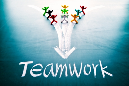 Teamwork concept, group of people with the same goal Stock Photo - 17711393