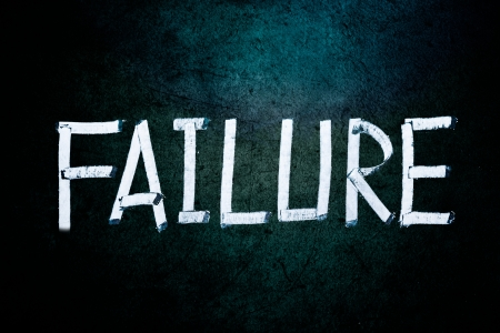 Failure concept, word on grungy blackboard photo