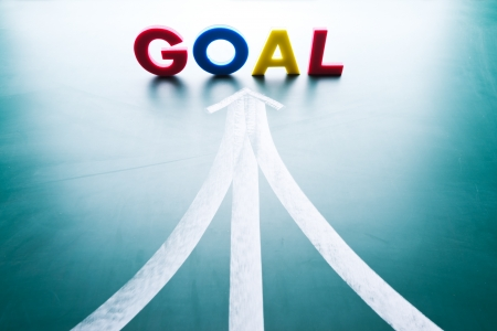 Goal concept, many ways to the goal photo