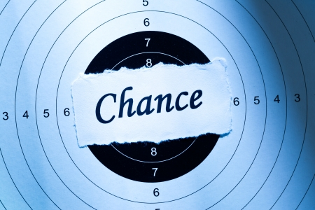 Chance concept, word on target paper Stock Photo - 18813452