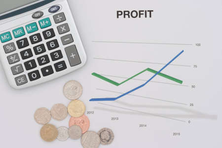 sums: A chart showing profit with some coins