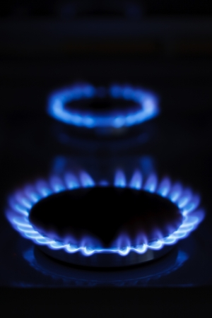 Burning gas cooker rings ready to cook Stock Photo - 17594989