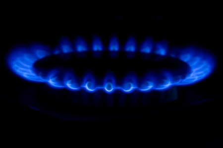 Burning gas cooker rings ready to cook Stock Photo - 17594979