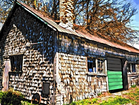 old tractor shed photo