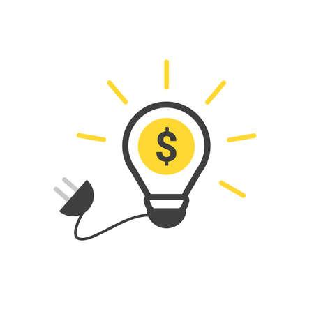 Dollar Sign Light Bulb with plug