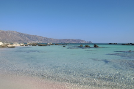 sandy beach in the south of the island of crete