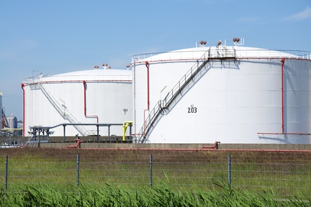The oil in the tanks is for the processing for the industry