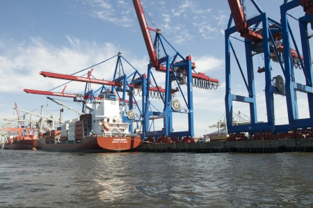 container ships at the terminal at the port