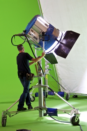 photo shooting: shooting for a tv movie in a studio