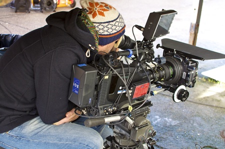 Hamburg 14:10:11 filming for a television series. Editorial