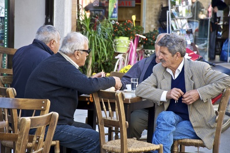 11/07/2011 Crete Mires. Also on the market, many Greeks discuss the political and economic crisis this year. Editorial