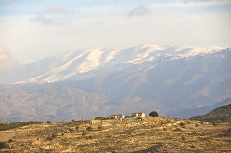 realms: the psiloritis in the snow. south crete in mid-november