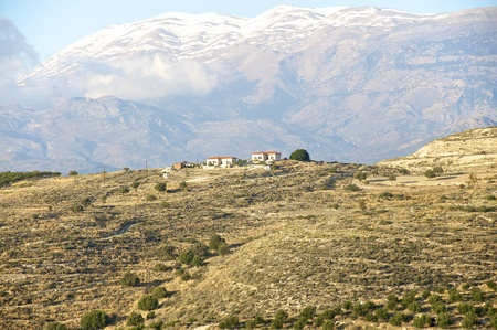 ida: the ida mountains in the snow. south crete in late november