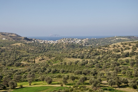 Panoramic view in the south of Crete on the sea