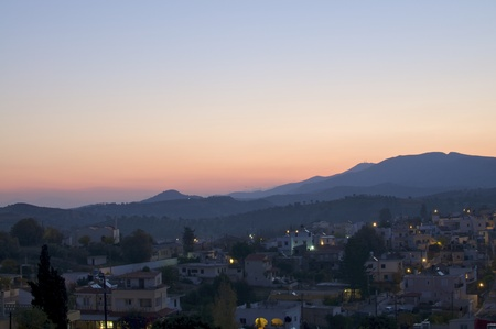 Sunrise in the mountains on Crete