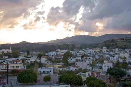 Raining Day on Crete Stock Photo