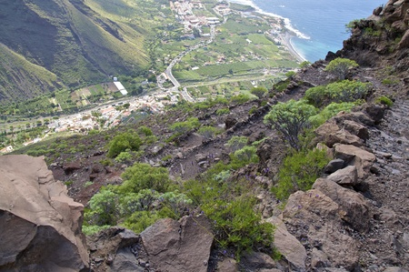 The Valle Gran Rey on the island of La Gomera Canary Islands